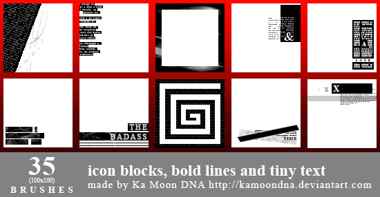 35 Icon blocks, bold lines and tiny text by KaMoonDNA on ...