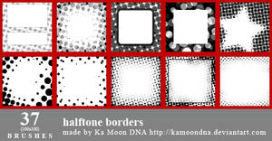37 halftone borders brushes
