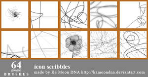 64 icon scribbles brushes