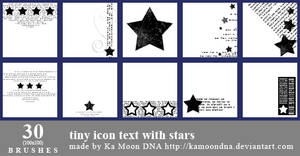 30 tiny icon text with stars brushes