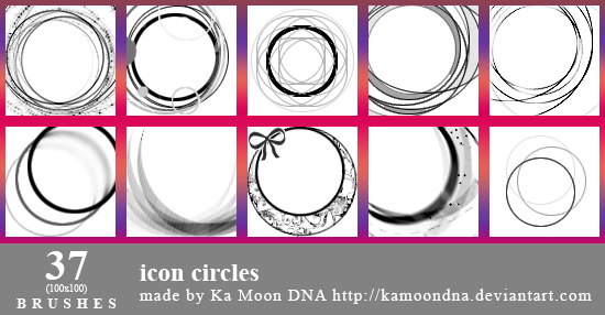 37 icon circles brushes by KaMoonDNA