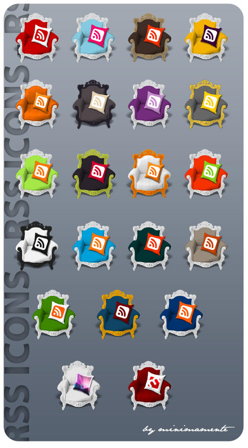 RSS icons by minimamente