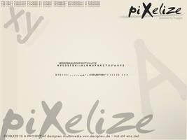 piXelize font by xfragg3r