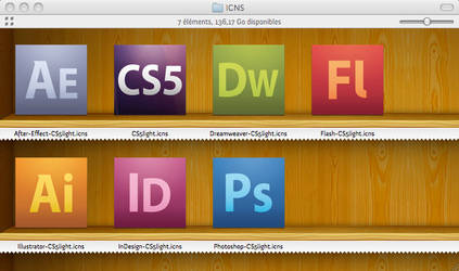 Adobe CS5 icons Light