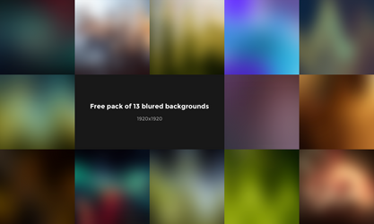13 Blured Backgrounds FREE