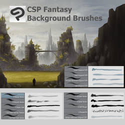 Free Clip Studio paint Fantasy Brush Set