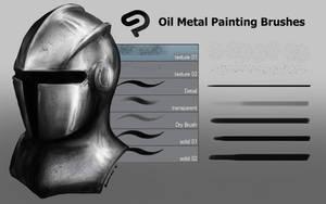 Free CSP Oil Metal Painting Brush Set