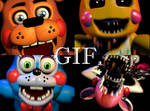 Five Nights At Freddy's 2 - All Toys Gif