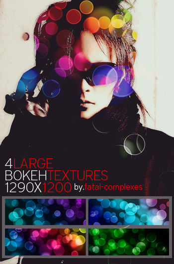 4 large bokeh textures