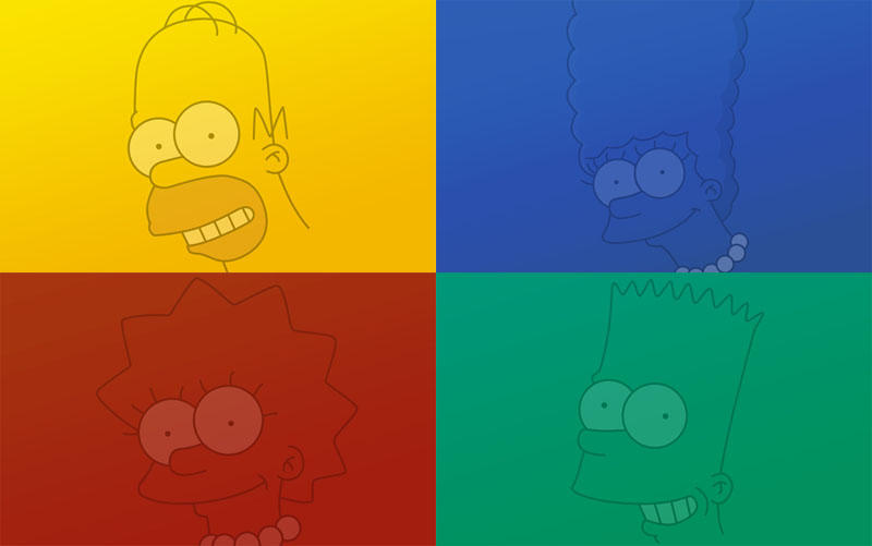 Simpsons family wallpapers by tibots