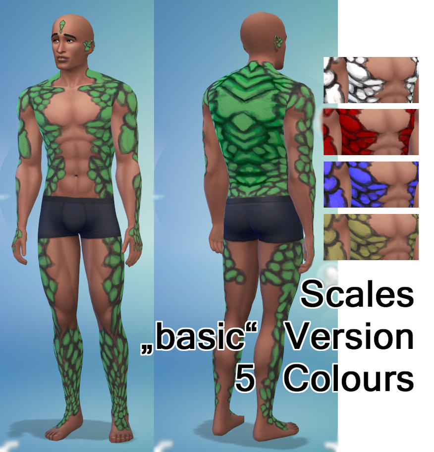 Sims 4 skin details scales basic version by minnmon on deviantart