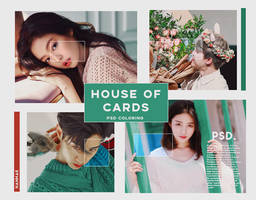 PSD COLORING HOUSE OF CARDS // HANNAK