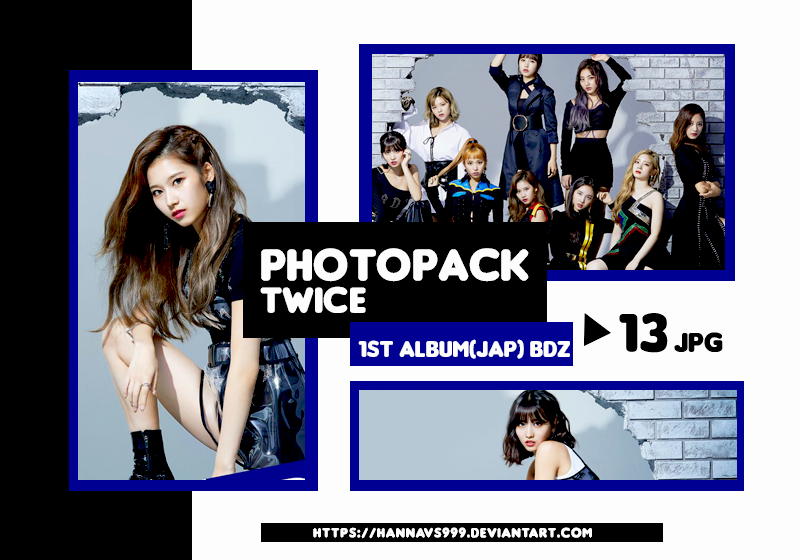 PHOTOPACK TWICE - BDZ 1st ALBUM JAPAN // HANNAK by hannavs999 on