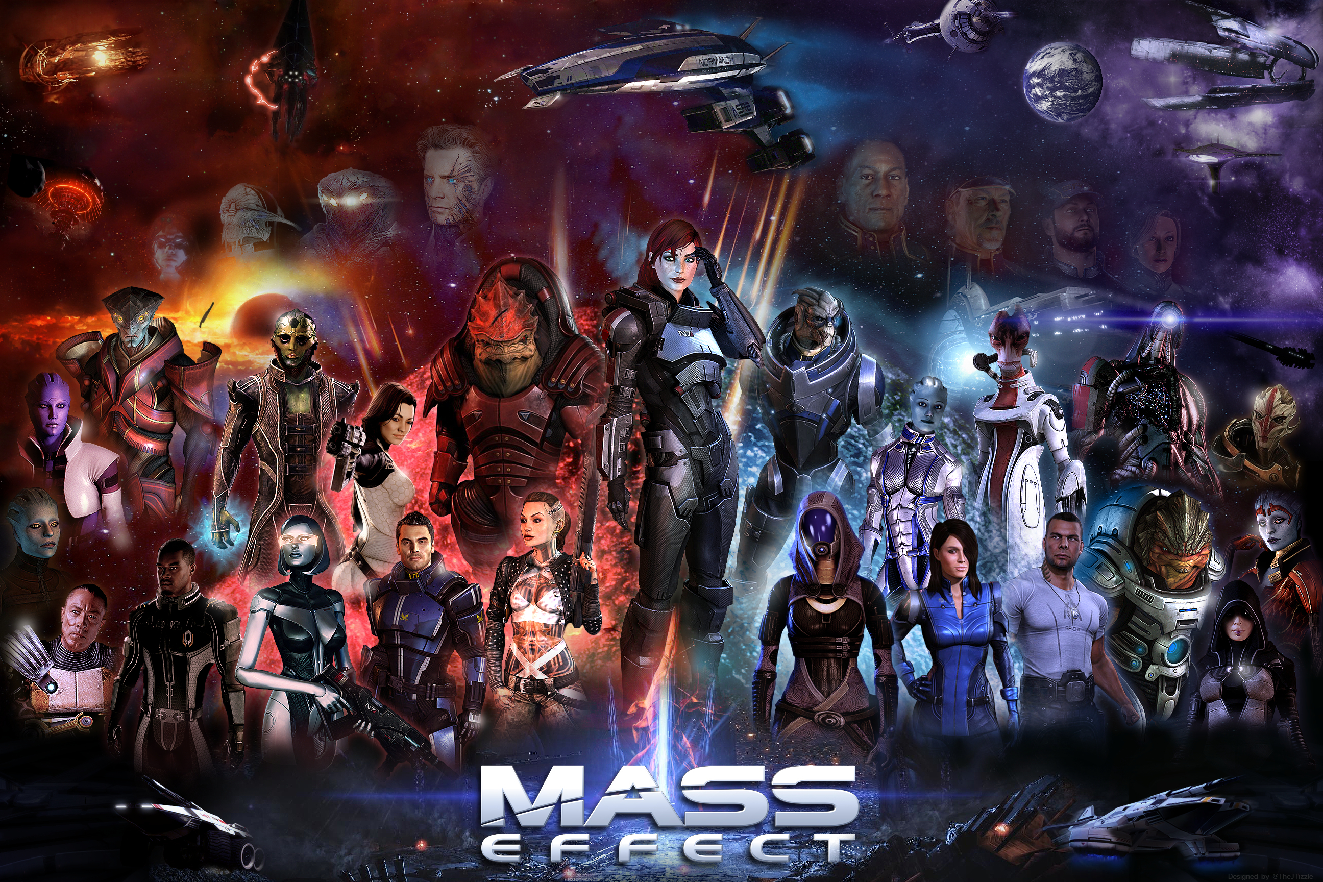 Mass Effect Poster 36x24 Female Shepard By Thejtizzle On