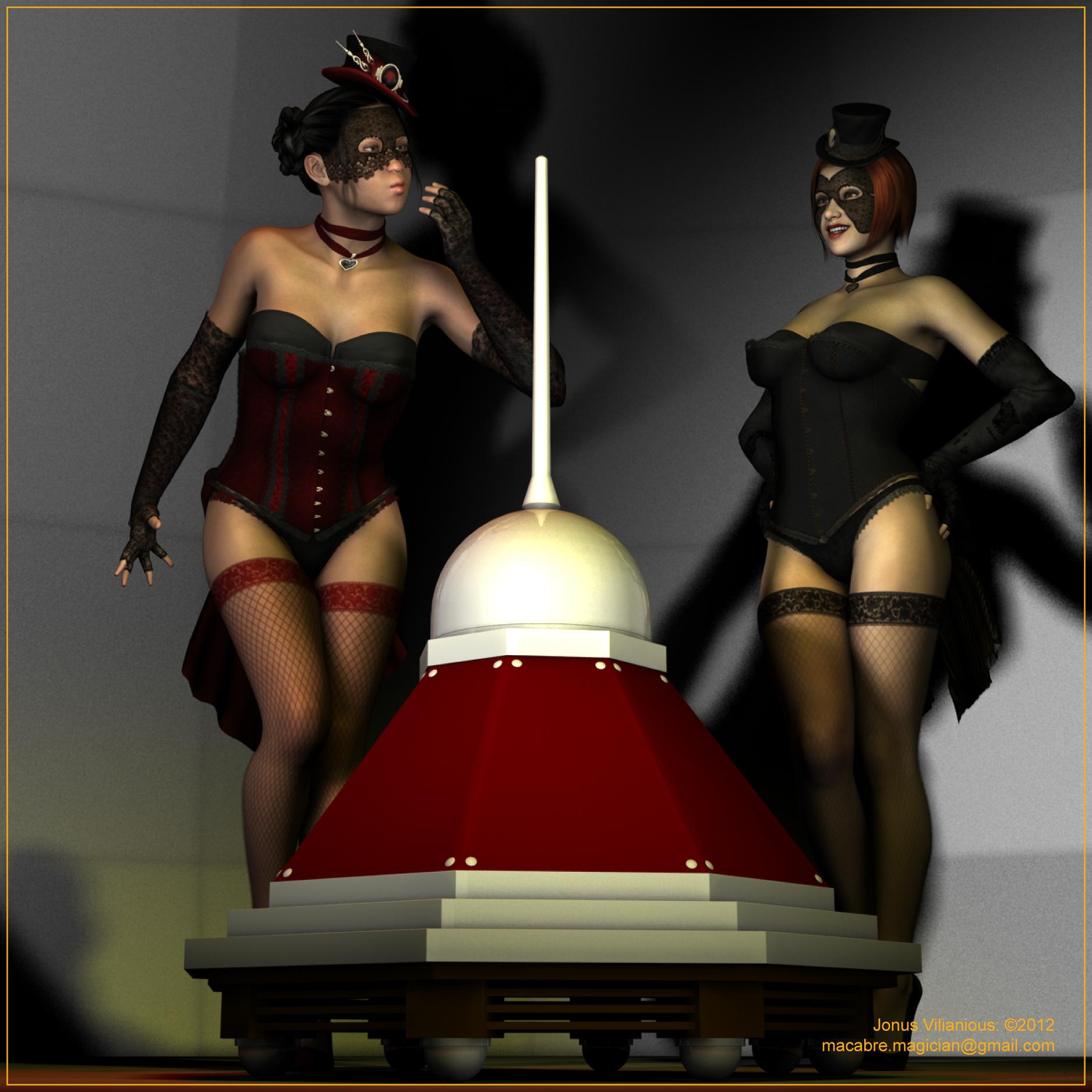 3d girls impaled naked photo