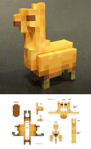 Llama Papercraft