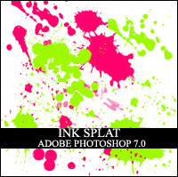 Ink Splat Photoshop Brush by in-vogue