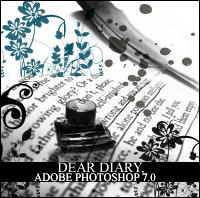Dear Diary Photoshop Brushes by in-vogue
