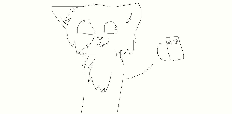 cat nip line art by NeonCandyLights