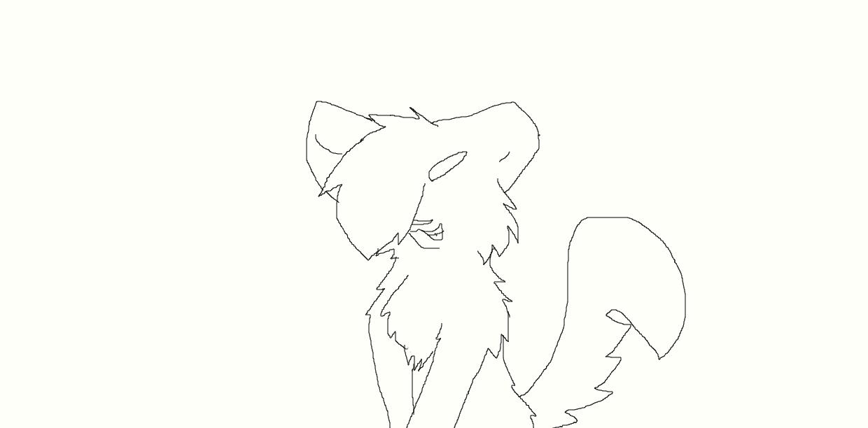 evil cat line art by NeonCandyLights