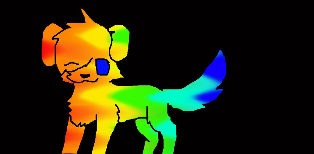 Rainbow dog adopt by NeonCandyLights