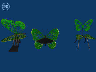 Blender Butterfly Chair 2- PD by over2sd