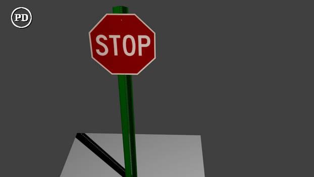 Blender Stop Sign PD/CC0