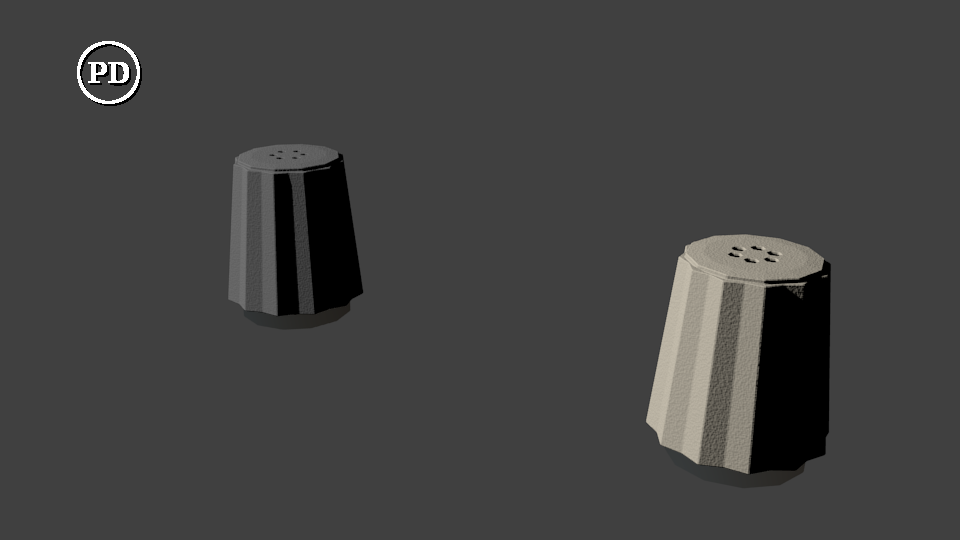 Blender saltshaker set - PD by over2sd