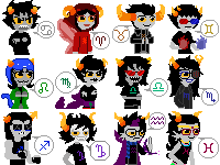Homestuck - Troll Icon Pack by Chocolate-Shinigami