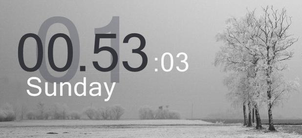 Big digital clock by sertion
