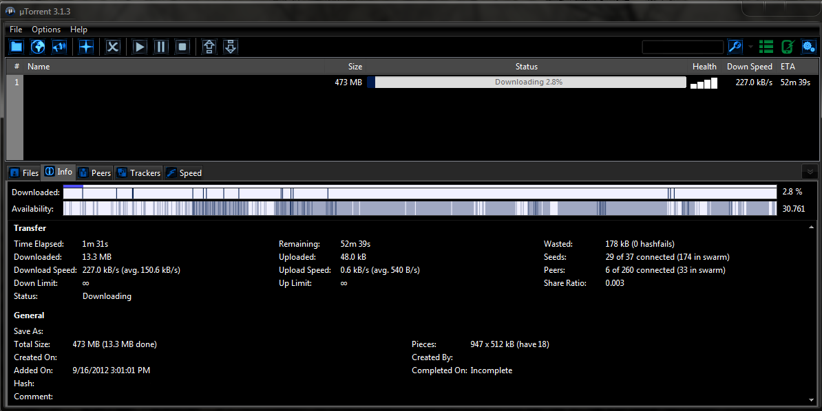 Black Utorrent Skin