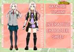 Katagami Yoshimi - BnHA OC [INTERACTIVE SHEET]
