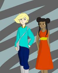 Cyan and Tahneh by ashwolfholmes