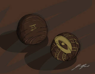 Riven Number Balls by ashwolfholmes