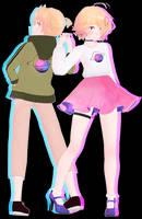 [Model DL] Influencer is Dead Kagamine Twins (!!) by StylinSorrowMMD