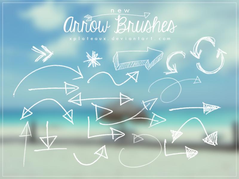 New Arrow Brushes || xPlateaux by xPlateaux
