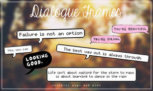 Dialog Frames || xPlateaux
