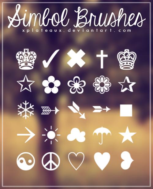 Simbol Brushes || xPlateaux by xPlateaux
