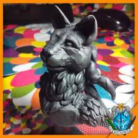 Perx sculpture - Furry Art by Cristalwolf