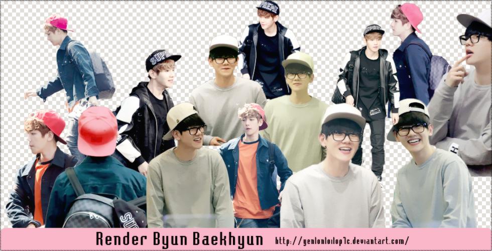 Pack Render Byun Baekhyun By Les by yenlonloilop7c