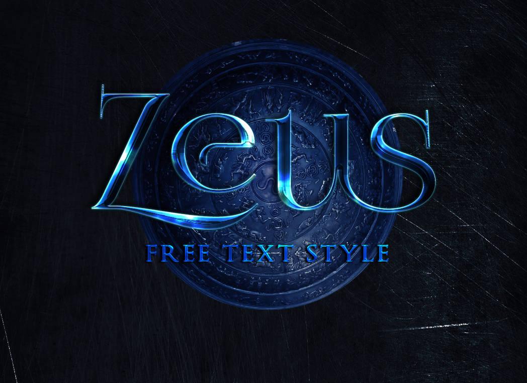 Free Text Style | Zeus by allimli on DeviantArt