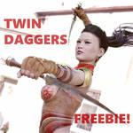 TWIN DAGGGERS FREEBIE!!! HAPPY NEW YEAR!