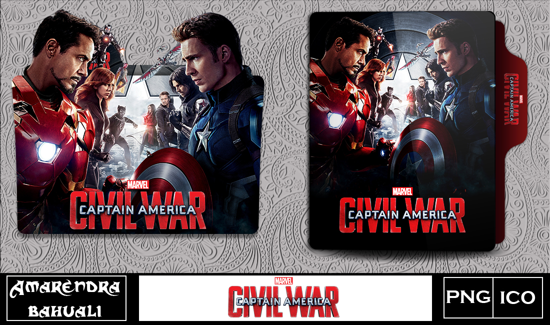 Captain America Civil War 2016 Folder Icon 2 By G0d 0f Thund3r On Deviantart