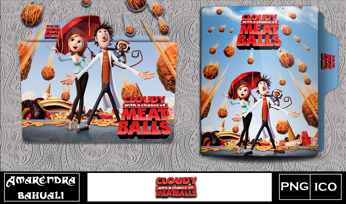 Cloudy With The Chance Of Meatballs Folder Icon By G0d 0f Thund3r On Deviantart