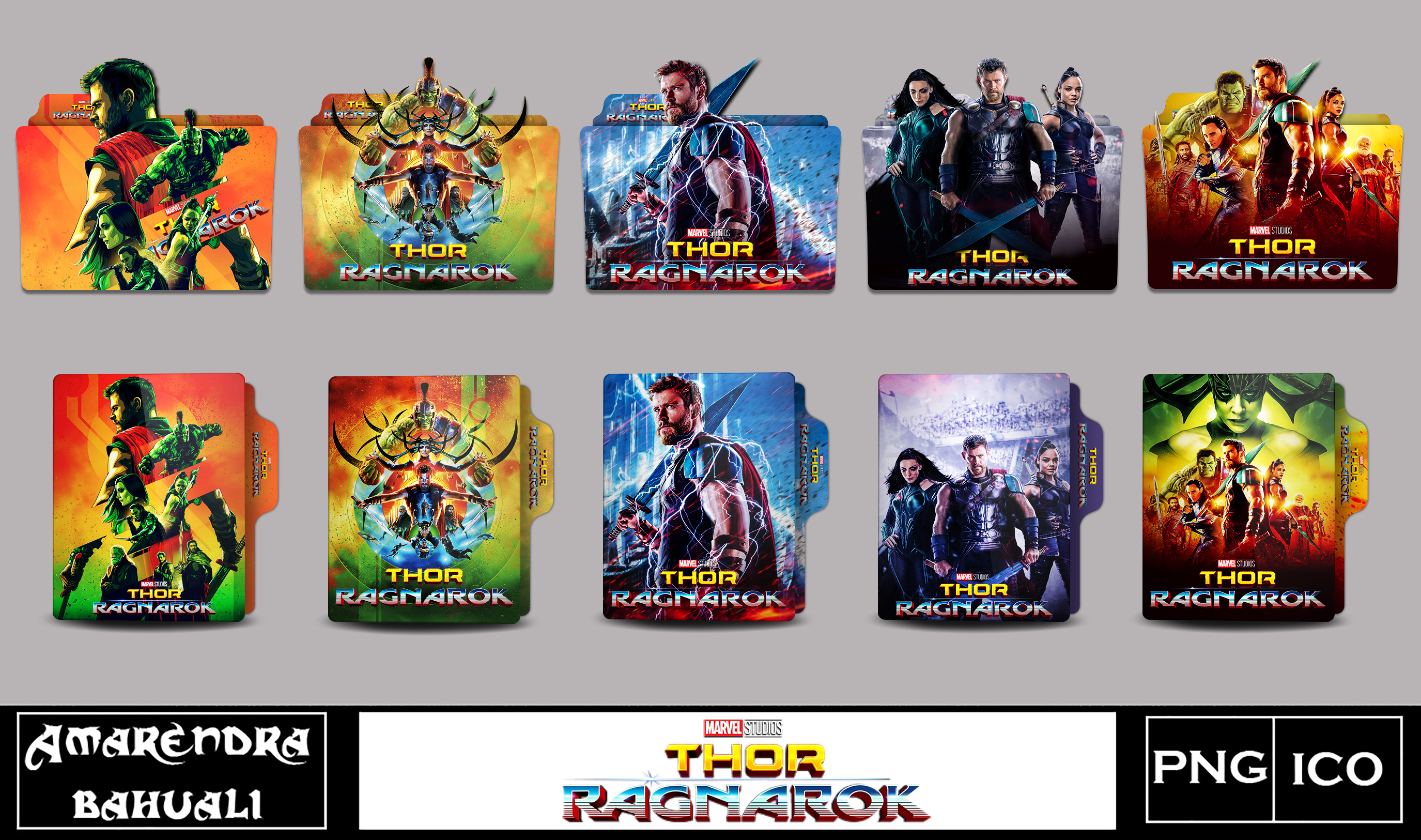 Thor Ragnarok 2017 Folder Icon Main By G0d 0f Thund3r On Deviantart