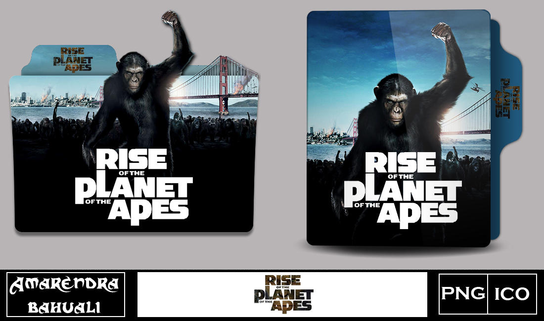 Rise Of The Planet Of The Apes 2011 Folder Icon By G0d 0f Thund3r On Deviantart