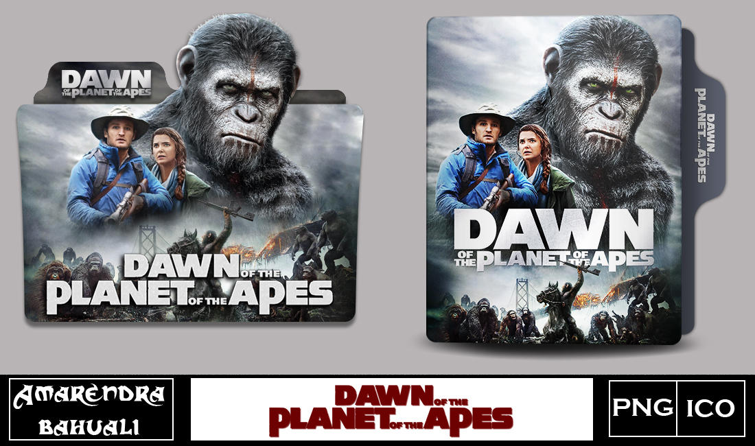 Dawn Of The Planet Of The Apes 2014 Folder Icon By G0d 0f Thund3r On Deviantart