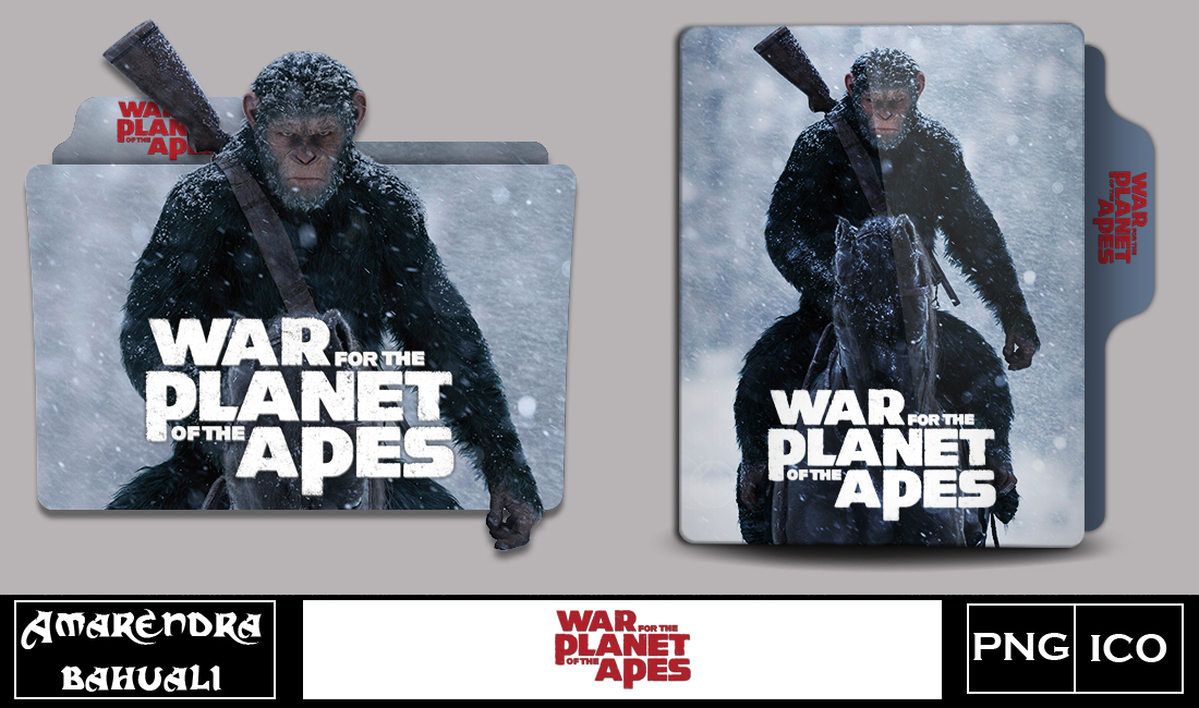 War For The Planet Of The Apes 2017 Folder Icon By G0d 0f Thund3r On Deviantart