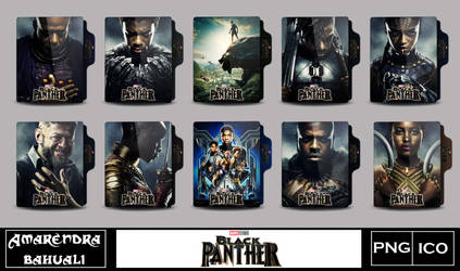 Black Panther (2018) folder icon by G0D-0F-THUND3R