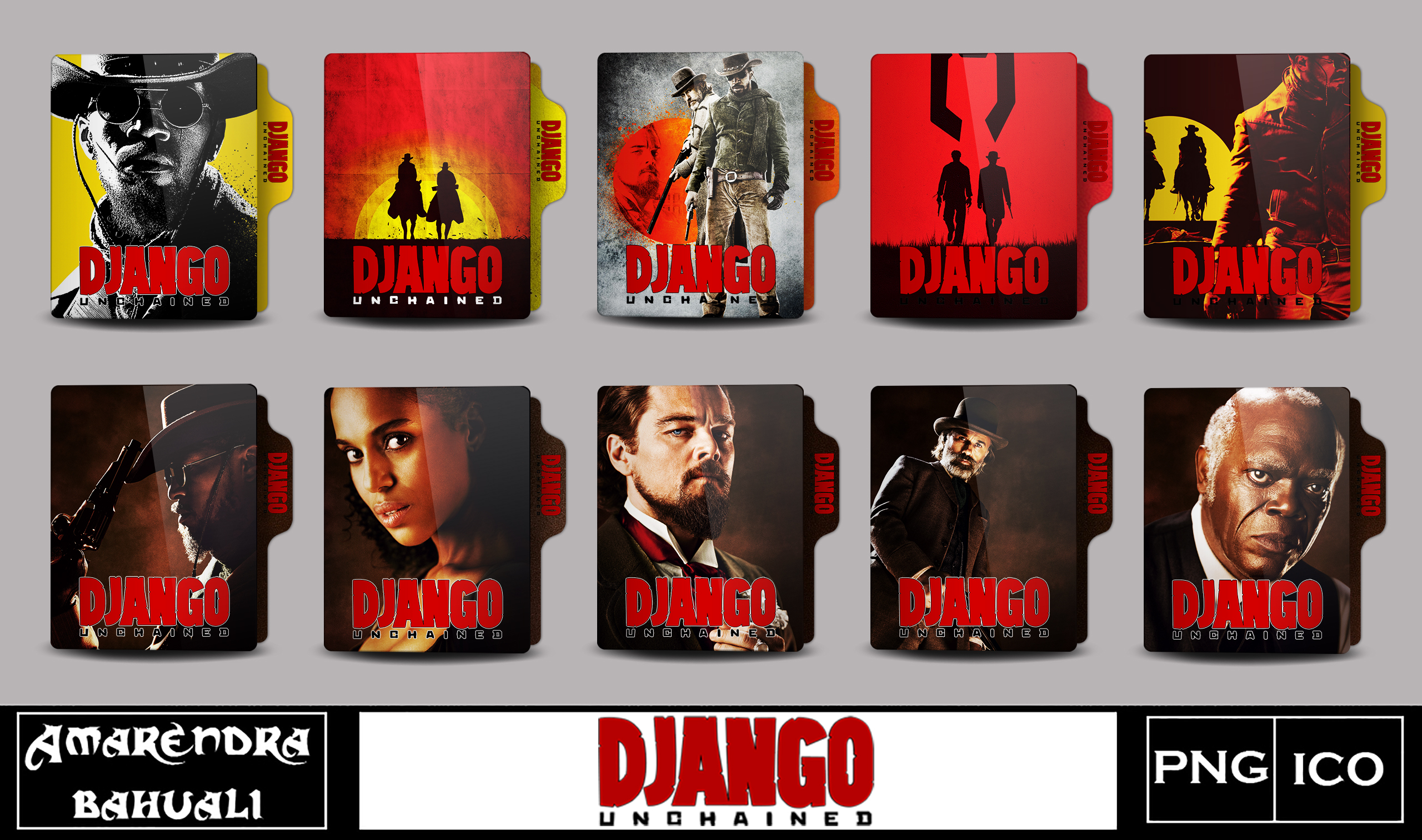 Django Unchained 2012 Folder Icon By G0d 0f Thund3r On Deviantart